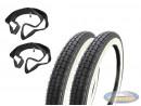 16 inch 2.25x16 Kenda K252 white wall inner tube / tire set