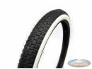 19 inch 2.00x19 Anlas NR-7 whitewall tire