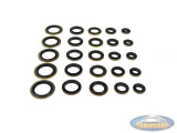 Assorted sealing rings rubber/brass 25 pieces