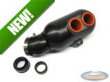 Supertec air filter box kartstyle black 28mm / 35mm / 45mm