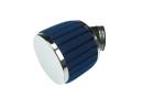 Luchtfilter 28mm / 35mm schuim blauw schuin