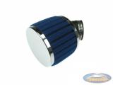 Luchtfilter 28mm / 35mm schuim blauw schuin (PHBG / PHVA)