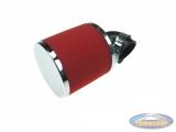 Luchtfilter 35mm schuim rood schuin 90 graden (PHBG / PHVA)