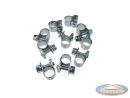 Hose clamps universal 7-8.5mm (25 pieces)