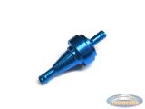 Benzinefilter Alu blauw