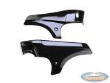 Side cover Tomos A35 set black gloss DMP