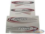 Sticker Tomos Standard rood / zwart set