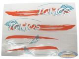 Sticker Tomos Standard oranje set