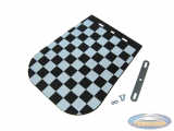 Mudflap universal with black-white checkered