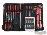 Complete set of screwdrivers in pouch 100 pieces