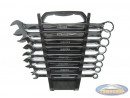 Plug-ring wrenches polish 8-piece