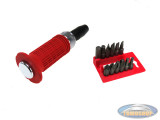 Impact screwdriver soft grip 12-pieces