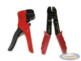 Electric wire stripper + crimping pliers