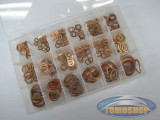 Copper ring assortiment set 350-piece