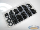 Assorted cable grommets 180-piece