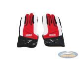 Glove MKX cross red / white