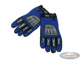 Handschoen MKX cross blauw / zwart