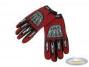 Glove MKX cross red / black
