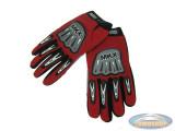Handschoen MKX cross rood / zwart