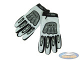 Glove MKX cross white / black