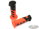 Handle grips Cross 922X black / orange 24mm / 22mm