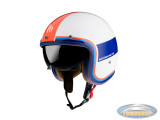 Helm Le Mans II SV Tant white, blue, red