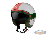Helm Le Mans II SV Tant white, green, red