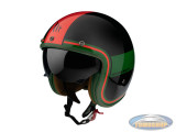 Helm Le Mans II SV Tant black, green, red