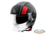 Helmet MT Jet Viale Phantom SV matt black / red