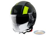 Helmet MT Jet Viale Phantom SV matt black / fluor yellow