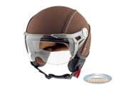 Helmet MT Soul Retro leather brown