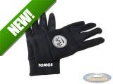 Gloves softshell black with Tomos logo white