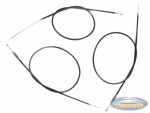 Throttle cable / brake cable set 3 pieces for Tomos A3 / A35 DMP