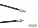 Speedometer cable 75cm VDO M10 / M10 black