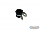 Cable clamp universal with rubber 8mm