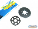 Front sprocket + rear sprocket set + chain Tomos A35 / A3