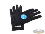 Gloves softshell black with Tomos logo