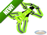 Safety vest with LED front and rear