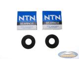 Lager en keerringset NTN Tomos A3 / A35 (2x 6203 C3 lager / 2x 17x35x7 keerring)