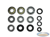 Bearing and oil seal set Tomos 4L old type 4 gear pedal shift
