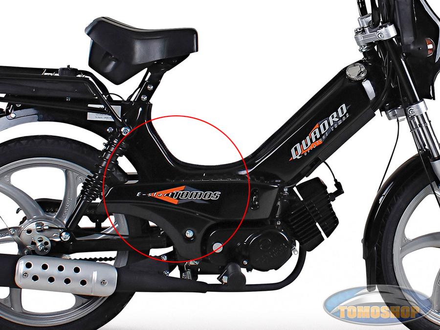 Goede Tomos Quadro E-start side cover sticker IH-44