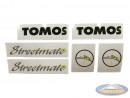 Sticker Tomos Streetmate complete set