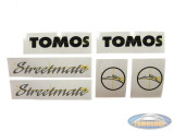 Sticker Tomos Streetmate complete set