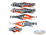 Sticker Tomos Quadro E-start compleet set