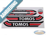 Sticker Tomos A3 S25 transfer set rood / zwart
