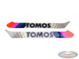 Sticker Tomos A3 S25 original tank transfer set Disco color