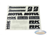 Stickerset Motul / NGK etc.