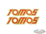 Sticker Tomos yellow / red