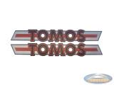 Sticker Tomos logo set 203x21mm