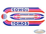 Sticker Tomos A3 S25 transfer set Disco 2.0